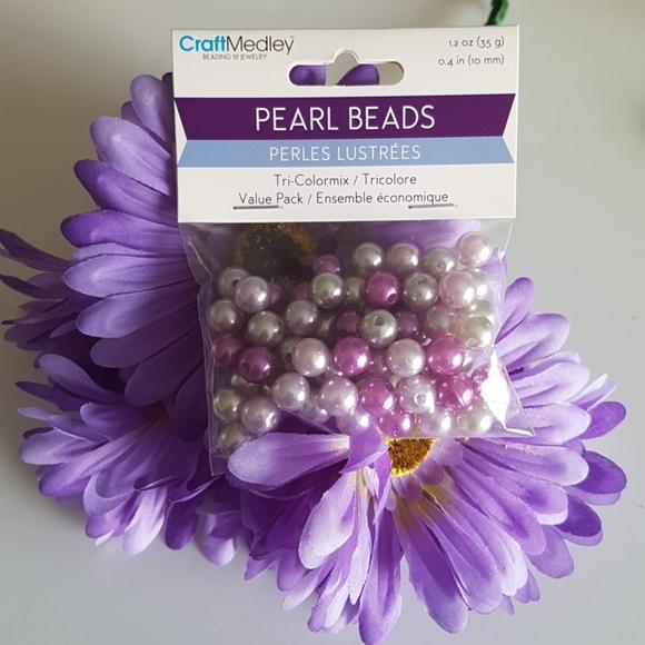 Purple Lilac Silver Glass Seed Beads, 1.2oz (…